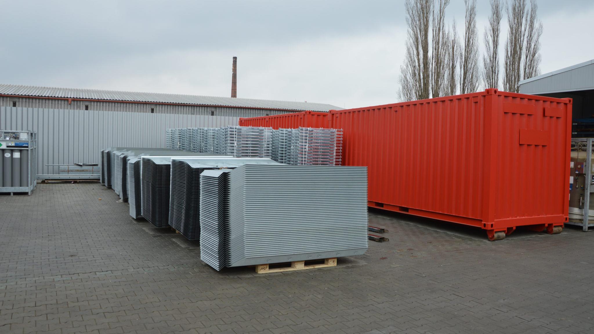 FLOM připraven k uložení do kontejneru